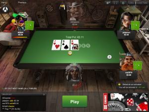 Покерний стіл на Unibet