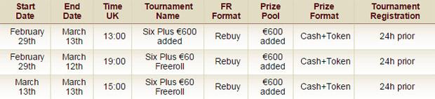 """Щоденні турніри """"Six Plus Festival"""""""
