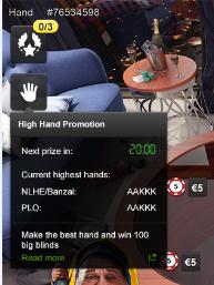 Акція High Hand на Unibet